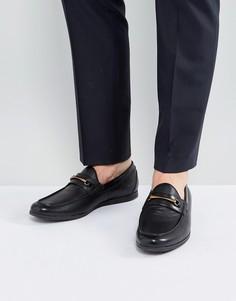 Черные кожаные лоферы ALDO Frelacia - Черный
