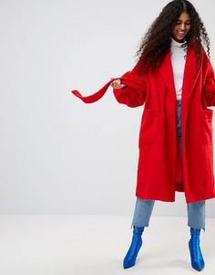Пальто с пышными рукавами ASOS Made In Kenya - Красный