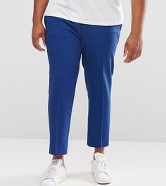 Темно-синие укороченные строгие облегающие брюки ASOS PLUS - Темно-синий