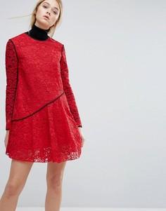 Кружевное платье Sportmax Code Bosforo - Красный