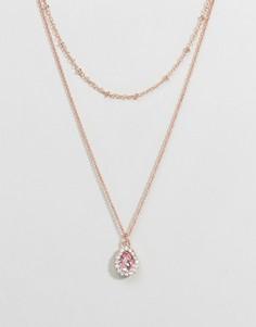 Золотистое ожерелье с подвеской Johnny Loves Rosie - Золотой
