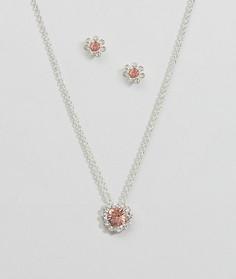 Набор из ожерелья и серег в подарочной упаковке в виде хлопушки Johnny Loves Rosie - Золотой