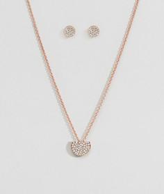 Новогодний подарочный набор из ожерелья и серег Johnny Loves Rosie - Золотой