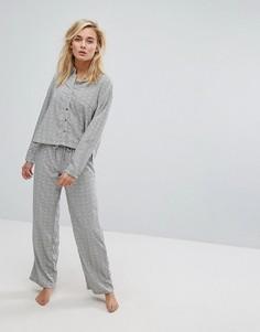 Пижамный комплект в горошек Lazy Days - Черный