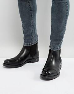 Кожаные ботинки челси Jack & Jones Greg - Черный