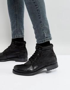 Кожаные ботинки на шнуровке Jack & Jones Justin - Черный