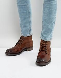Кожаные ботинки на шнуровке Jack & Jones Justin - Коричневый
