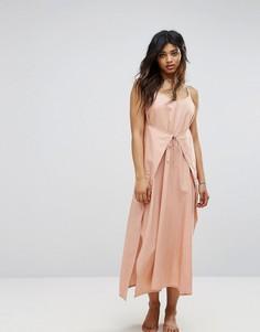 Пляжное платье макси с запахом Zulu & Zephyr - Розовый