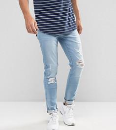 Выбеленные джинсы скинни с рваной отделкой Brooklyn Supply Co - Синий