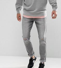 Серые джинсы скинни с дырками на коленях Brooklyn Supply Co - Серый