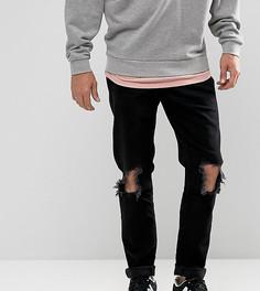 Узкие черные джинсы с дырками на коленях Brooklyn Supply Co - Черный