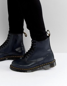 Ботинки с 8 парами люверсов Dr Martens 1460 - Темно-синий
