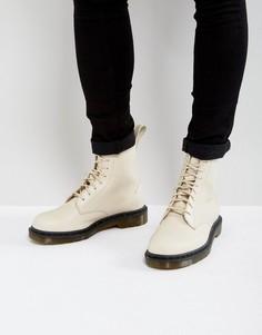 Ботинки с 8 парами люверсов Dr Martens Pascal Decon - Кремовый