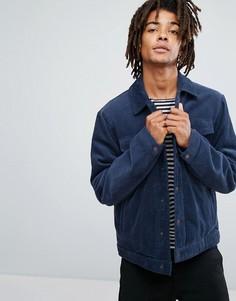 Утепленная вельветовая куртка синего цвета ASOS - Синий