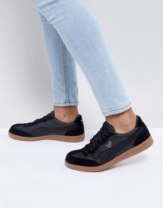 Черные кожаные кроссовки Puma Liga 36459702 - Черный