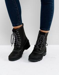 Черные водонепроницаемые кожаные ботинки Sorel Emelie 1964 - Черный