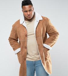 Светло-коричневая куртка на подкладке из искусственной цигейки Sixth June PLUS - Рыжий