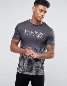 Черная футболка с эффектом деграде River Island - Черный