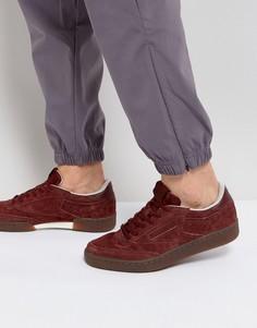 Красные кроссовки с каучуковой подошвой Reebok Club C 85 BS5093 - Красный