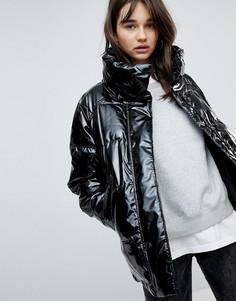 Дутая куртка Monki - Черный