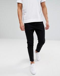 Черные суженные книзу джинсы ASOS - Черный