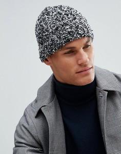 Серо-черная шапка-бини букле ASOS - Черный