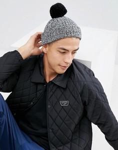 Черная шапка-бини с помпоном ASOS - Черный