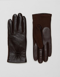 Кожаные перчатки Barneys - Коричневый Barneys Originals