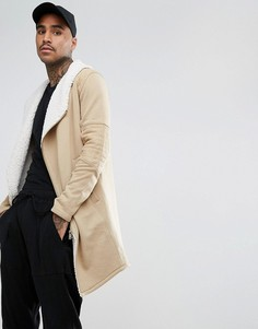 Байкерское пальто с подкладкой из искусственного меха Black Kaviar - Коричневый