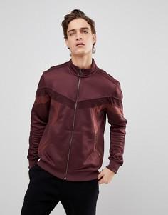 Бордовая спортивная куртка с велюровым кантом Black Kaviar - Красный