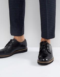 Черные дерби с отделкой на носке Original Penguin Plus - Черный