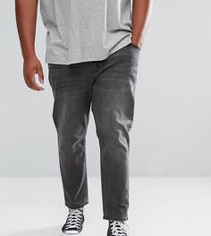 Выбеленные черные суженные книзу джинсы ASOS PLUS - Черный