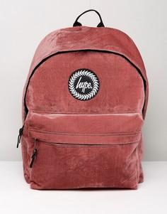 Красный велюровый рюкзак Hype - Красный