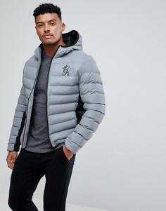 Дутая куртка со светоотражающим эффектом Gym King - Серый