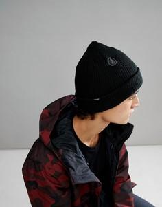 Черная шапка-бини на подкладке Volcom Snow Sweep - Черный