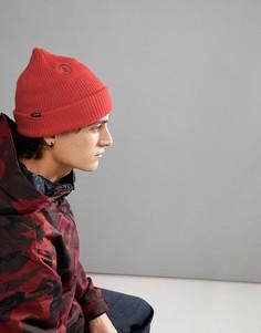 Оранжевая шапка-бини на подкладке Volcom Snow Sweep - Оранжевый