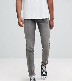 Темно-серые джинсы скинни с потертостями ASOS TALL - Серый