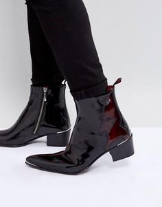 Черные ботинки на молнии Jeffery West - Черный