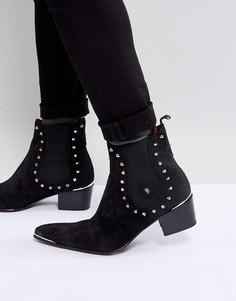 Черные ботинки челси с заклепками Jeffery West - Черный