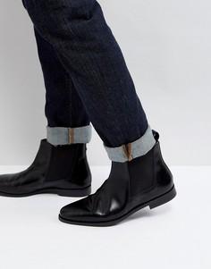 Блестящие ботинки челси Farah Theodore - Черный