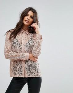Кружевная блузка Goldie Hooked On You - Розовый