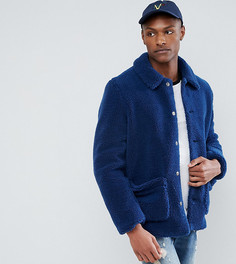 Синяя куртка из искусственного меха ASOS TALL - Синий