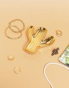 Золотистая подставка под украшения в форме кактуса Sass & Belle - Мульти