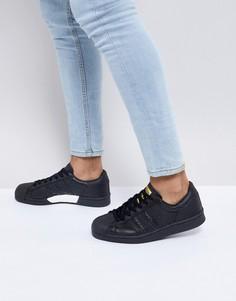 Черные кроссовки adidas Originals Superstar - Черный