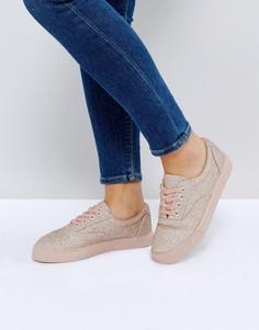 Кроссовки на шнуровке ASOS DEMBY - Фиолетовый