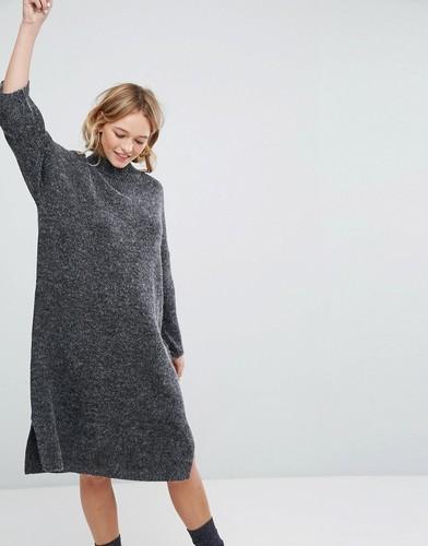 Вязаное платье миди Monki - Серый