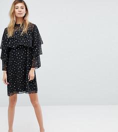 Платье с принтом и оборками Monki - Черный