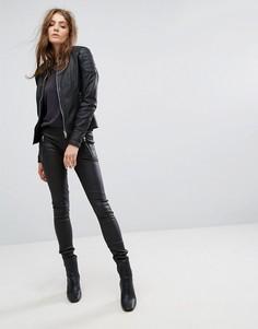 Кожаные брюки Goosecraft - Черный