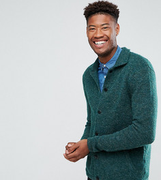 Зеленая фактурная трикотажная куртка Харрингтон ASOS TALL - Зеленый