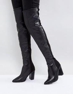 Кожаные ботфорты с заклепками ALDO - Черный